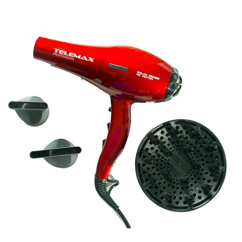 TELEMAX FK-8813 AC motor Σεσουάρ μαλλιών Red